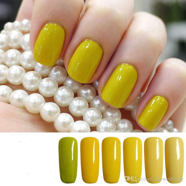 Soak Off Ginger Yellow Series Nail Polish 15ml High Quality Long ...
