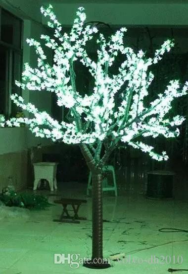 LED Artificial Cherry Blossom Tree Light Christmas Light 1248pcs LED Bulbs 2m/6.5ft Height 110/220VAC Rainproof Outdoor Use LLFA