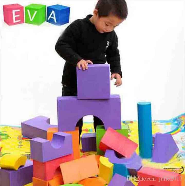 Good quality soft eva building blocks toy for baby & kids 0-6 years old early learning of the geometric shapes foam cube