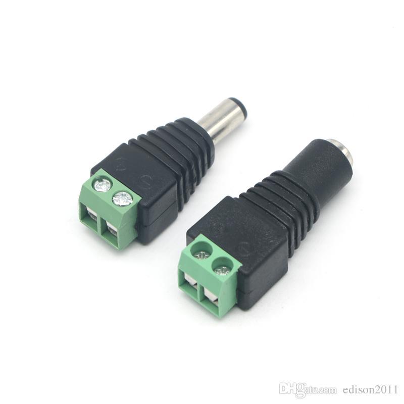 Edison2011 New Hot Мужской Женский DC Power Jack разъем адаптера штепсельной вилки 2.1mm * 5.5mm для CCTV камеры свободный корабль