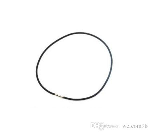 100 teile / los schwarz Gummischnur Draht Halskette für DIY Handwerk Modeschmucksachen Geschenk 18 Zoll W9 *