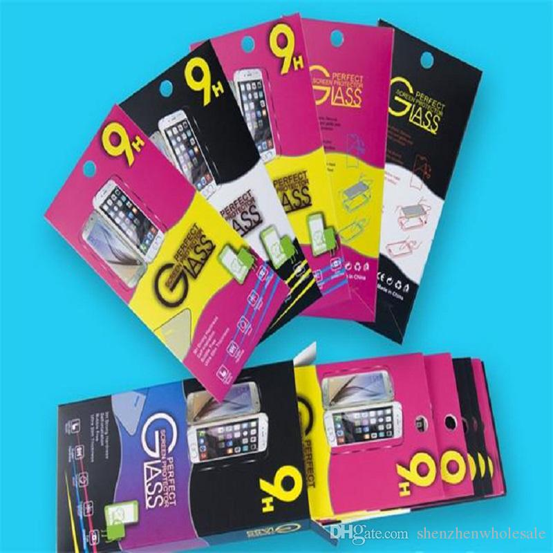 Empty Retail Package Black Paper Boxes 10pcs each cheap box Packaging for Premium Tempered Glass 9H Screen Protector Sony Cell phone samsung