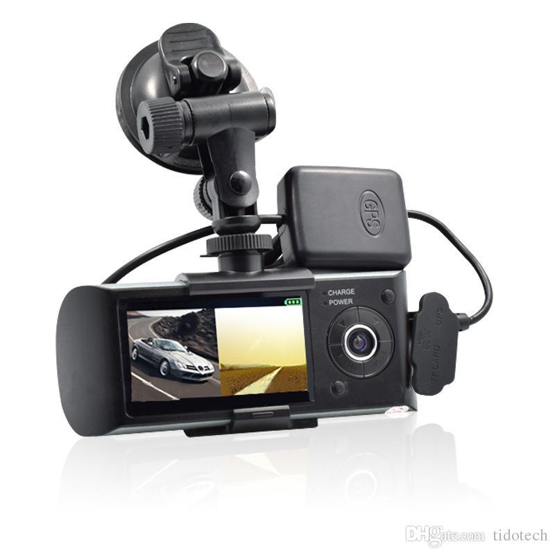 2.7 inch Full HD Screen Car DVR Camera Video Recorder Dash Cam G-Sensor GPS Dual Lens with Wide Angle
