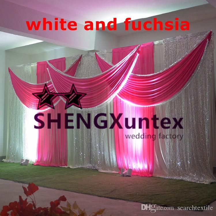 Top Vente mariage Toile de fond rideau blanc couleur \ scène Drapé rideau pour le mariage