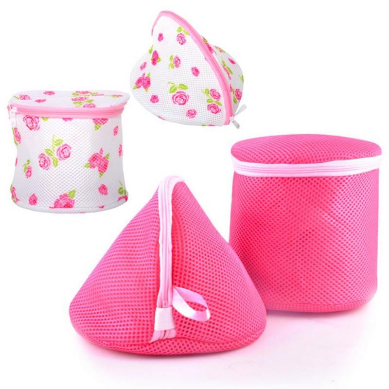 3 pezzi Donne Calze Reggiseno Lingerie pulita di lavaggio Wash Bag Protezione Mesh lavatrice pratica borsa Aid lavanderia Deposito