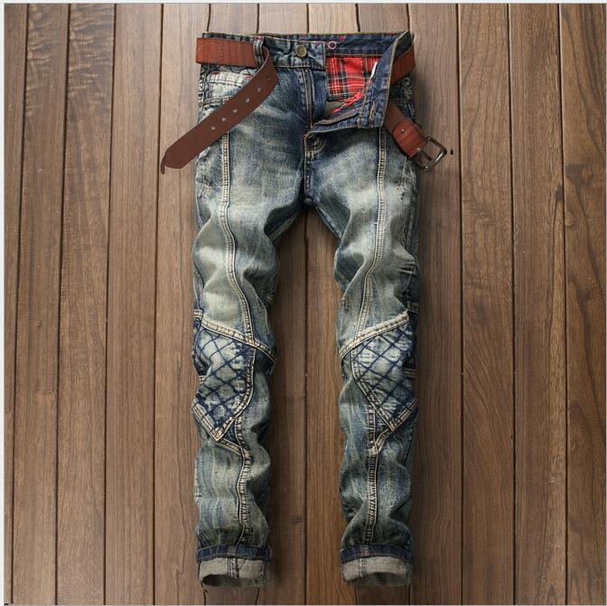 Atacado - homens jeans homens gato ser macho velho vintage cor calças jeans maré maré maré cartao de vaqueiro personalizado fazer para calças lxxvq