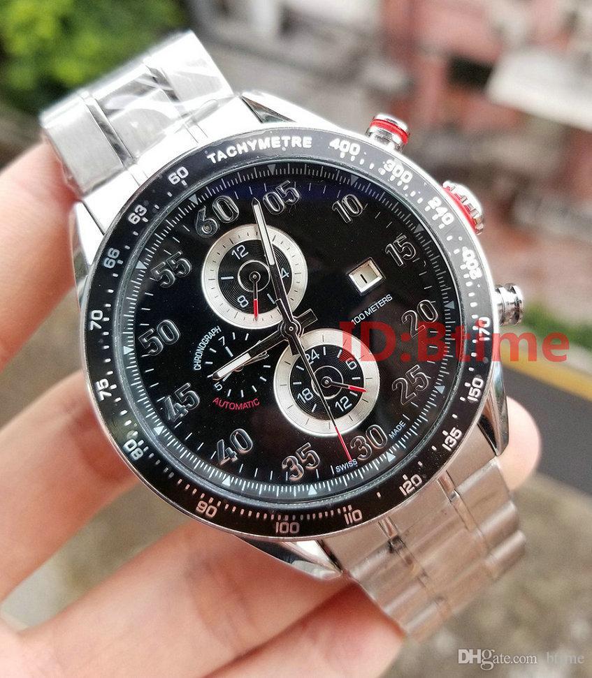 Neue Art und Weise 2813-automatische Bewegung Neue mechanische Edelstahl-Uhr-Sport-Selbst Wind Uhren Armbanduhr