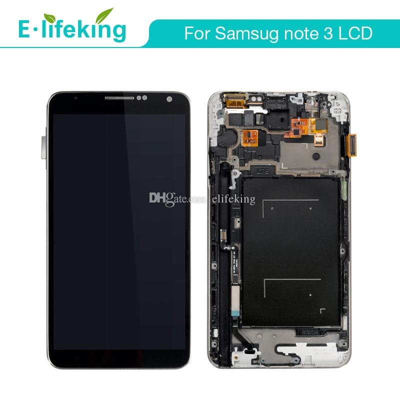 LCD For Samsung Galaxy Note3 N9005 N900A N900T N9000 LCD Display Touch Screen Digitizer Assembly with Frame +Free Shipping