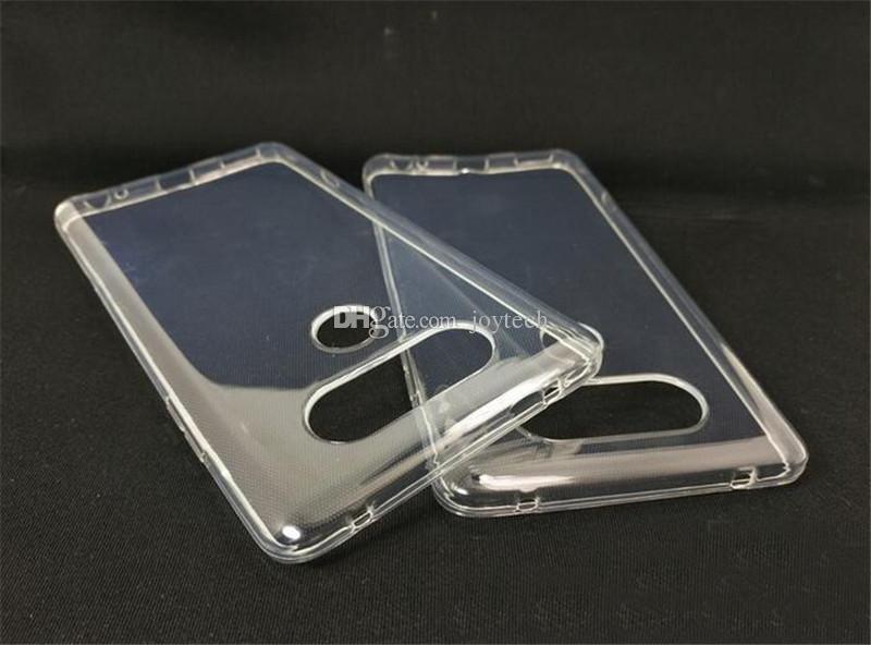 Super flexível Clear Case TPU para LG V20 V10 Slim Cristal De Volta Proteger Pele Borracha Borracha Capa de Telefone Fundas Silicone Gel Case