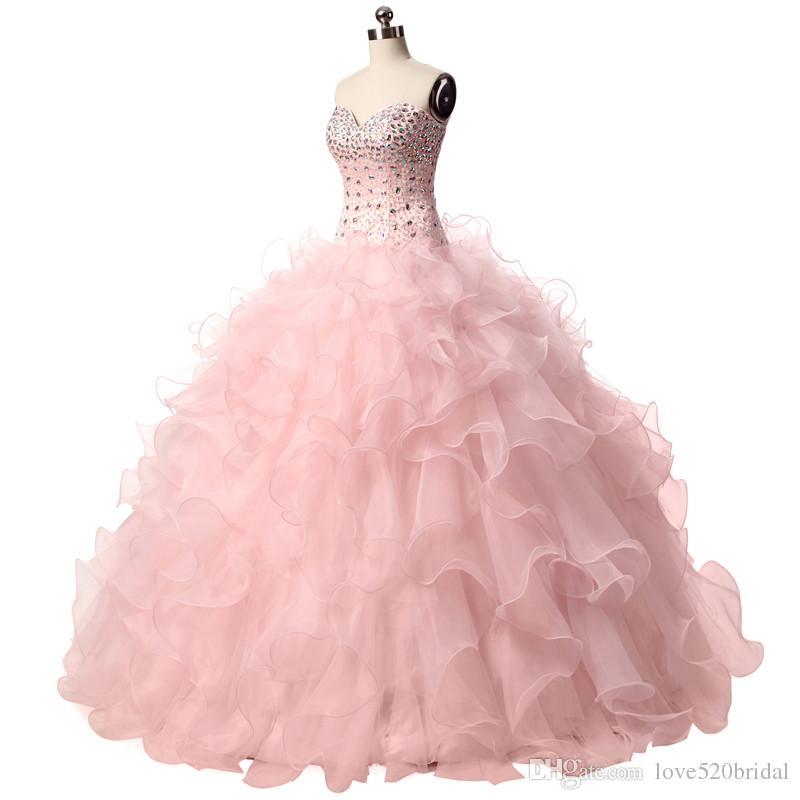 Pink Puffy Quinceanera Dresses 2017 Vestidos 15 Anos De Princesa ...