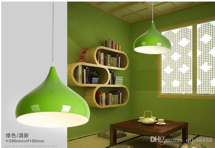 Modern pendant lights lamparas colorful aluminum lamp shade modern pendant lights lamparas colorful aluminum lamp shade luminaire dining room lights pendant lamp for home mozeypictures Images