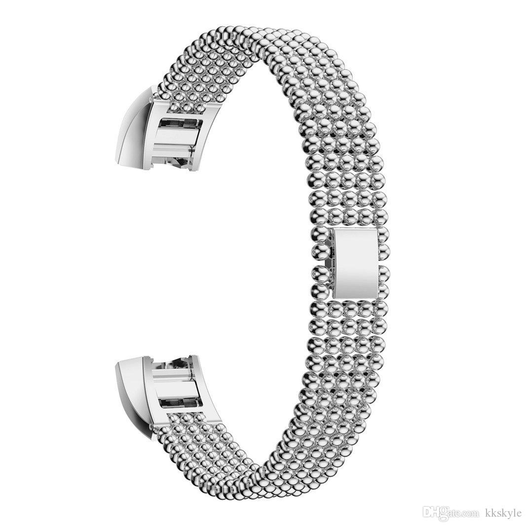 Fitbit Alta Hr And Alta Bands Round Bead Bracel Stainless Steel