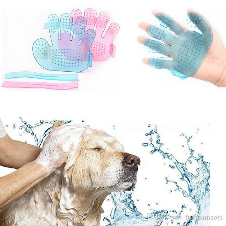 كلب القط حمام حمام فرشاة الاستمالة تدليك قفاز الملحقات الحيوانات الأليفة التموين الكلاب القط أدوات الحيوانات الأليفة مشط