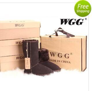 شحن مجاني 2016 جودة عالية wgg المرأة الكلاسيكية تل الأحذية النسائية الأحذية التمهيد الثلوج الشتاء الأحذية الجلدية التمهيد لنا حجم 5 --- 13