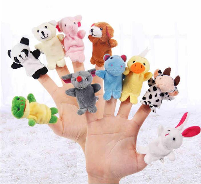 Ten fingers accidentally double with feet animal parent-child plush puppet toys wholesale spot