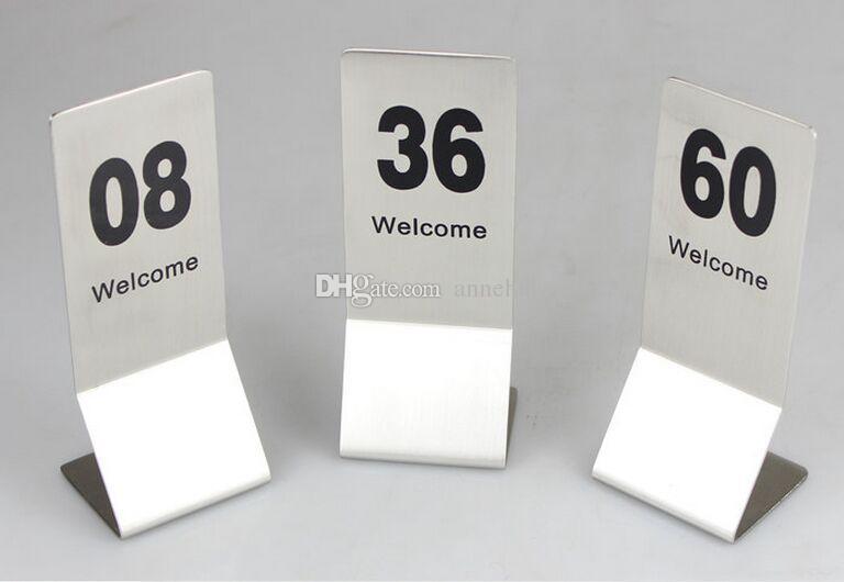 10 pz Super grande formato in acciaio inox Ristorante tavolo numero di carte del menu Biglietto da visita digitale card titolare della carta di visualizzazione spedizione gratuita