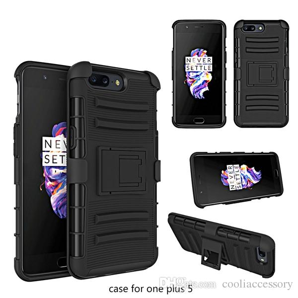 For Samsung Galaxy Note 8 ZTE Zmax Pro Z981 One plus 5 LG V20 Hybrid Armor Clip Belt Hard PC TPU Case 3 in 1 Shockproof Stand Skin Cover 4pc