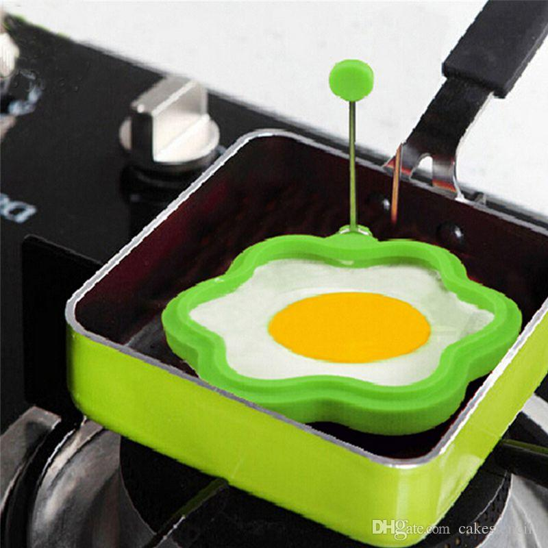 Creative Flower Shape Silicone Omelette Shaper Egg Frying Mold Egg Cooking Mould Breakfast Essential New Fashion
