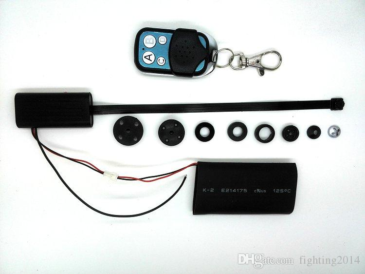 Düğme Mini DV Full HD 1080 P Modülü DIY Kamera pinhole kamera ile remoto kontrol DIY Kamera CCTV Ev Ofis Güvenlik Kam T186
