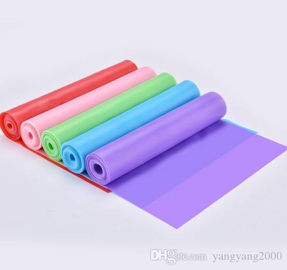 Yoga elástico ambientalmente amigável inodoro látex Puxar Corda Rally Pieces Fitness Resistance Tape