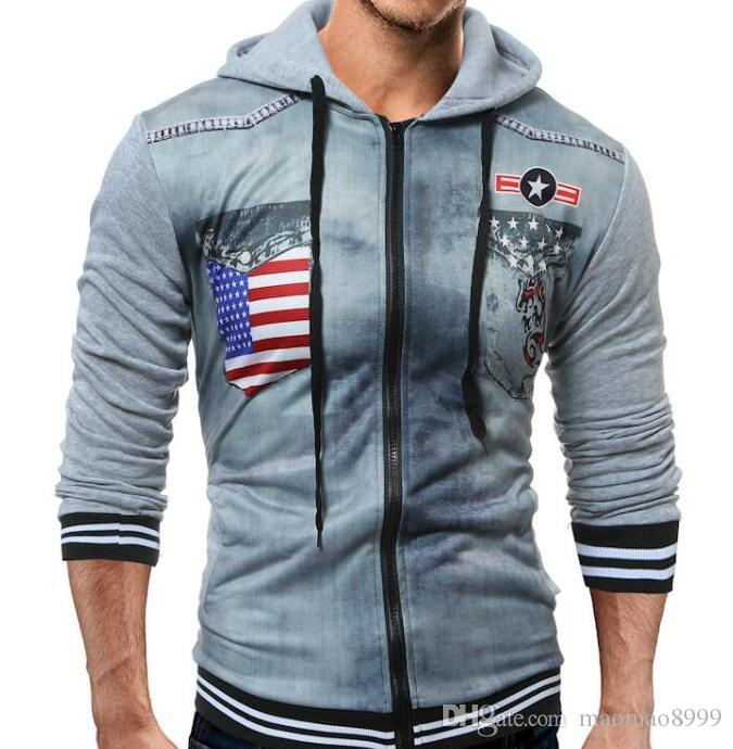 Brand 2017 Hoodie Zipper Printing Cardigan Hoodies Men Fashion Tracksuit  Male Sweatshirt Off White Hoody Mens ... - 2017 Brand 2017 Hoodie Zipper Printing Cardigan Hoodies Men