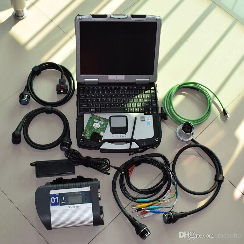 2021 para Mercedes SD 4 MB Estrela Ferramenta de Diagnóstico C4 com HDD Touch Screen Laptop CF30 4G Computador pronto para trabalhar