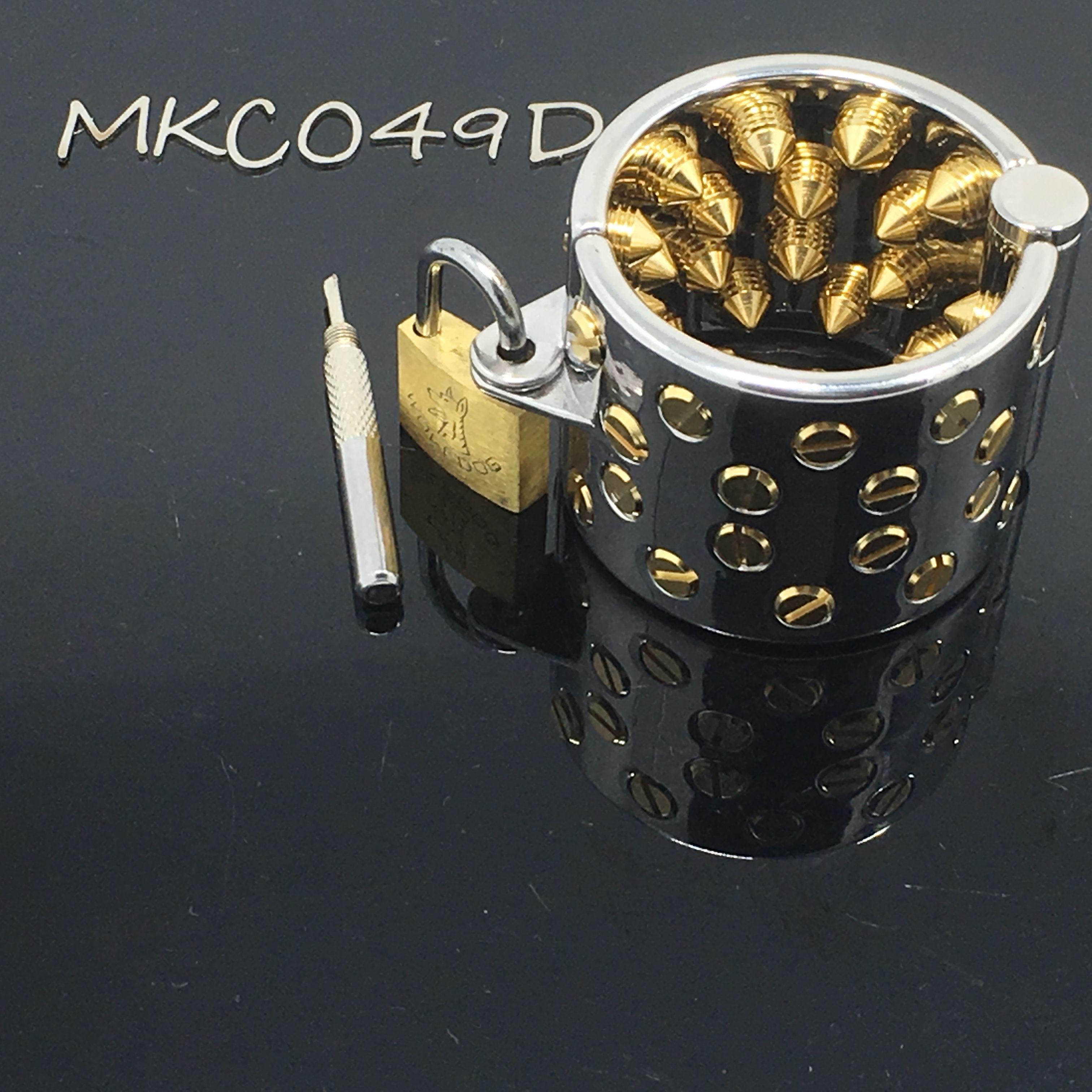 Edelstahl Mikes Spikes Ballstretcher Bondage Goldene Ringe Keuschheit Penis Hodensack Stimulation Ring Fetisch Sex Produkt MKC049D