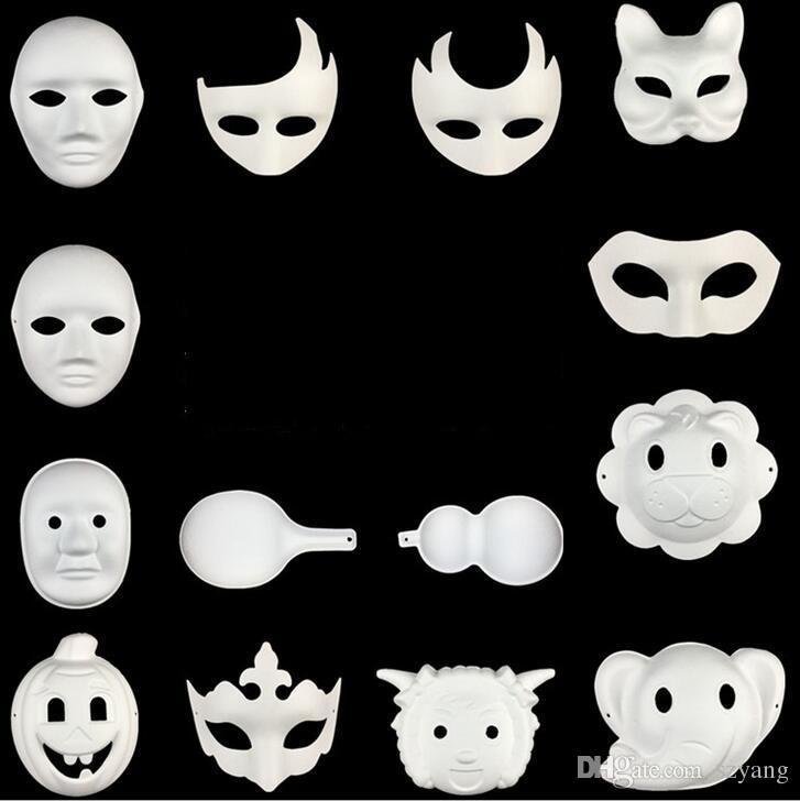 salvare prezzo basso moda Acquista 500 Pz Migliore Maschera Fai Da Te Dipinta A Mano Di Halloween  Maschera Viso Bianco Corona Zorro Farfalla Maschera Di Carta In Bianco ...