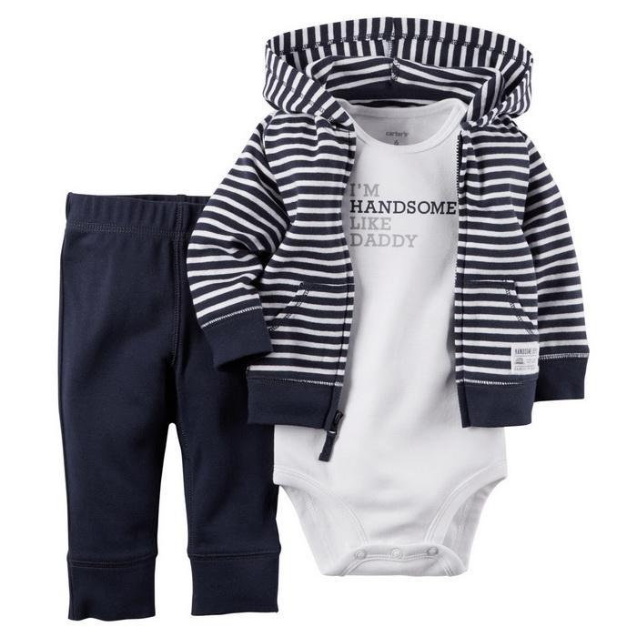 Оптом- в розницу 2016 новый ребенок мальчик одежда 3-х частей набор дети мальчики девушки одежда костюма пальто + брюки + боди, детская одежда