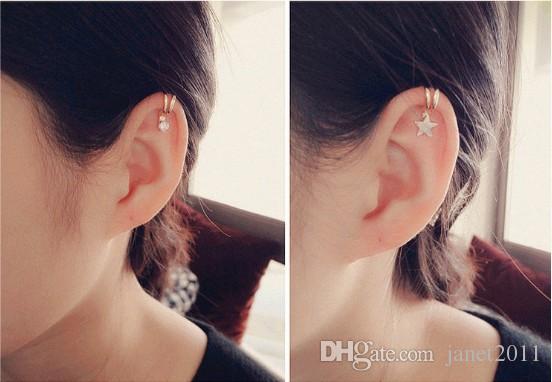 Charm Schmuck für Mädchen / Damen Silber / Gold Ton keine Piercing Ohr Manschetten Ohr Knochen Clips