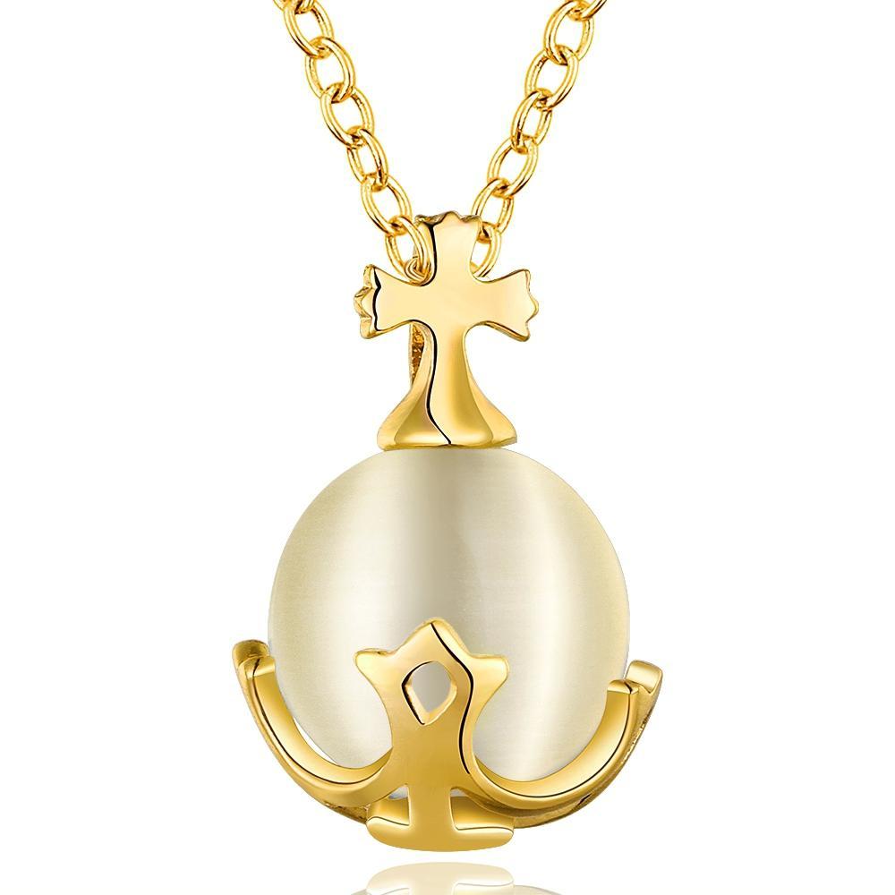 Collana rotonda opale di modo per il regalo all'ingrosso dei gioielli del platino placcato oro rosa / platino placcato pendenti delle collane di fascino della ragazza delle donne Trasporto libero