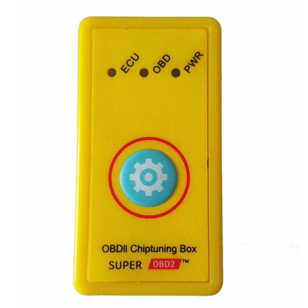 Più potenza Più coppia NitroOBD2 Aggiornamento Funzione di azzeramento Super OBD2 ECU Centralina di sintonia gialla per Benzina Meglio di Nitro OBD2