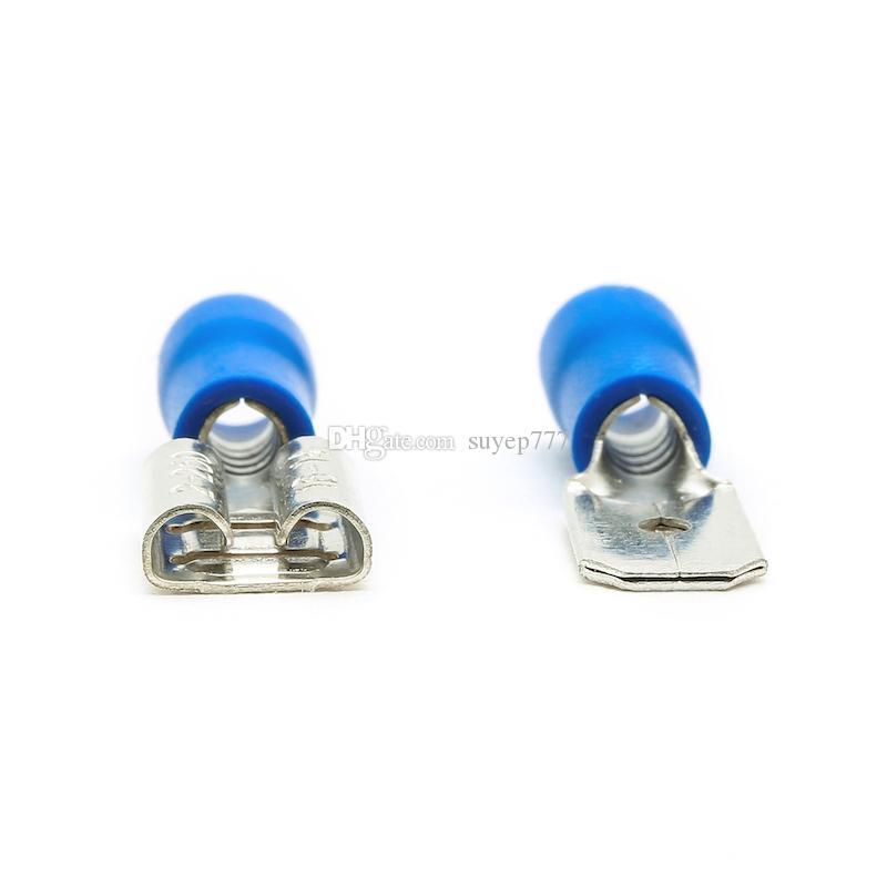 100 Electrical Straight Butt Connecteurs Terminal Sertissage-Bleu Rouge Jaune
