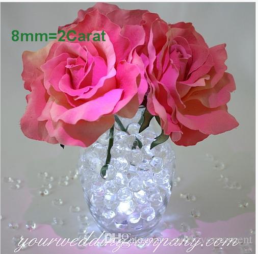 クリアランスセール -  8.0mm(2カラット)ダイヤモンドの紙吹雪の紙吹雪の散布中心ピース花瓶の装填ウェディングパーティーの装飾