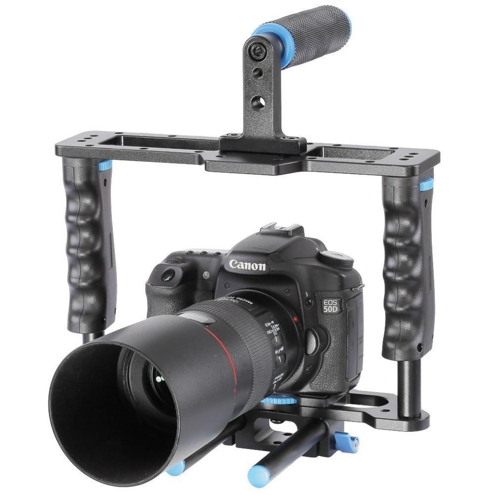 DSLR-4-in-1-Rig-Kit-Camera-Cage-Shoulder-Mount-Matte-Box-Follow-Focus-for-5D (4)