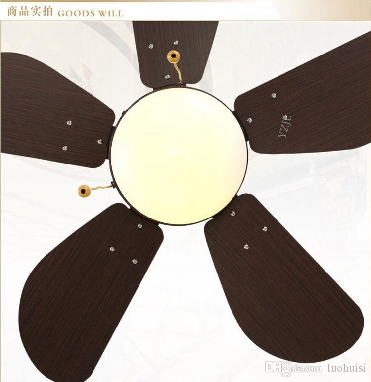 Großhandel Europäische Antike Kronleuchter Fan Lampe Design Led