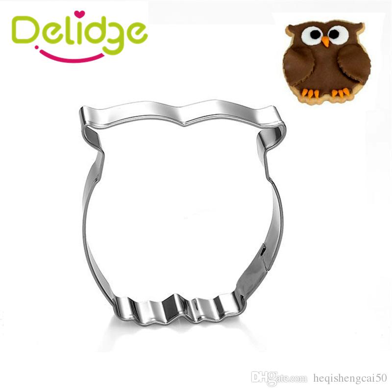 Delidge 1 pcs Cat Giraffe Owl Horse Pigeon Elephant Duck Shape Cookie Mold Cute Anmial Cookie Cutter Mousse Ring Tools