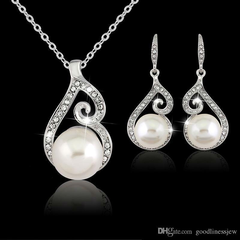 Collar de plata larga colgantes de regalo conjunto indio africano cuentas joyas de boda conjunto de joyas de fiesta joyas de joyería