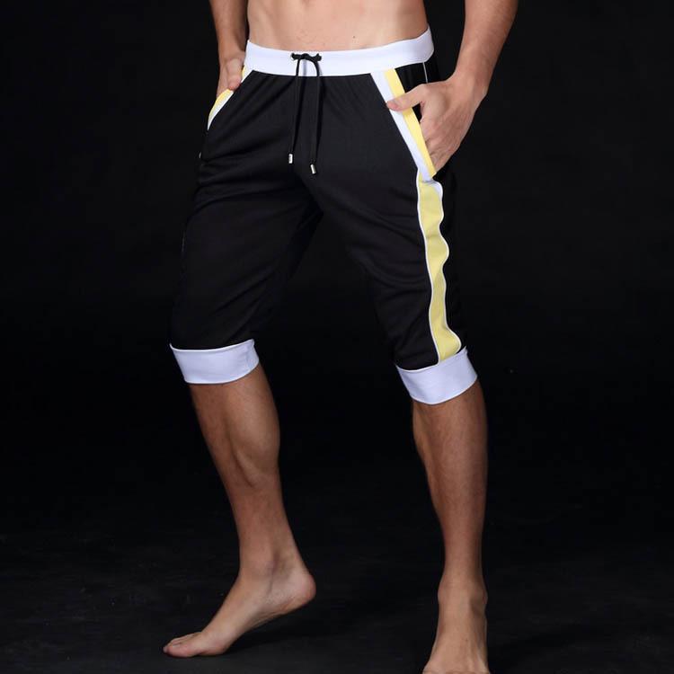 pantaloni sportivi all'aperto Sport per il tempo libero elastico moda sport Lunghezza del ginocchio da jogging palestra fitness pantaloncini maschili pantalon homme pantaloni della tuta da uomo