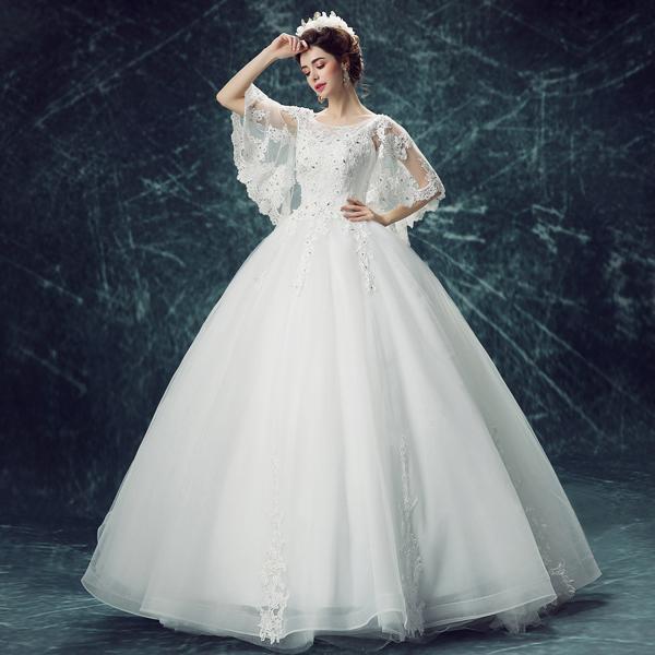 Großhandel Mode Braut Prinzessin Luxuriöse Weiße Spitze ...