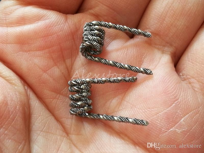 Torcia bobina filo 0.2ohm 29GA * 20GA + 32GA-26GA * 18GA Hive Staggered Scale Alien Wave Flat Premade Wrap Wires Resistenza prefabbricata per Vape