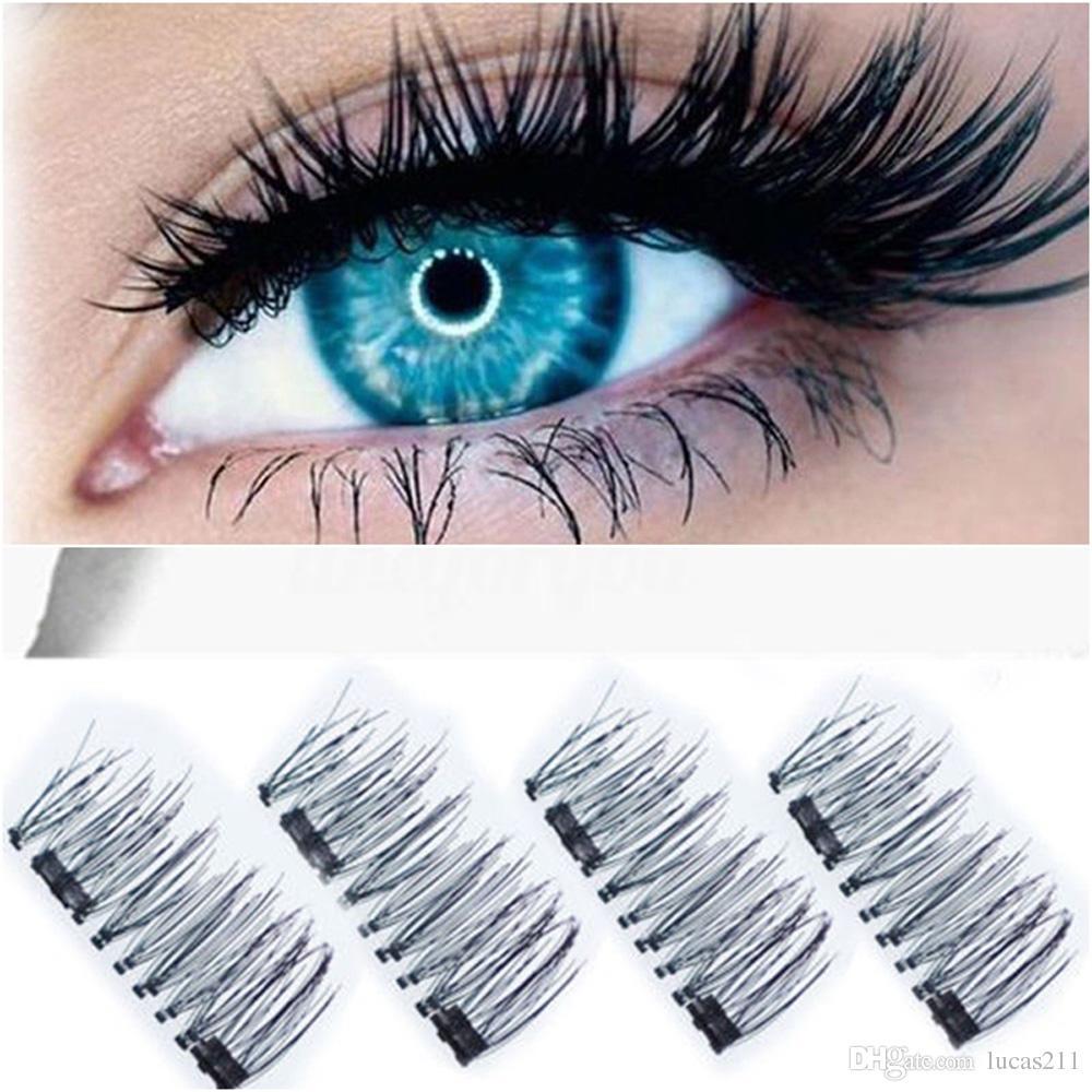 3D المغناطيسي الرموش الطبيعية الجمال لا الغراء قابلة لإعادة الاستخدام وهمية العين جلدة تمديد اليدوية