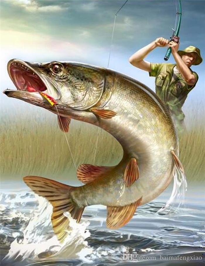 5d oya diy elmas boyama çapraz dikiş kitleri tam reçine yuvarlak elmas nakış mozaik ev dekor hayvan balık y