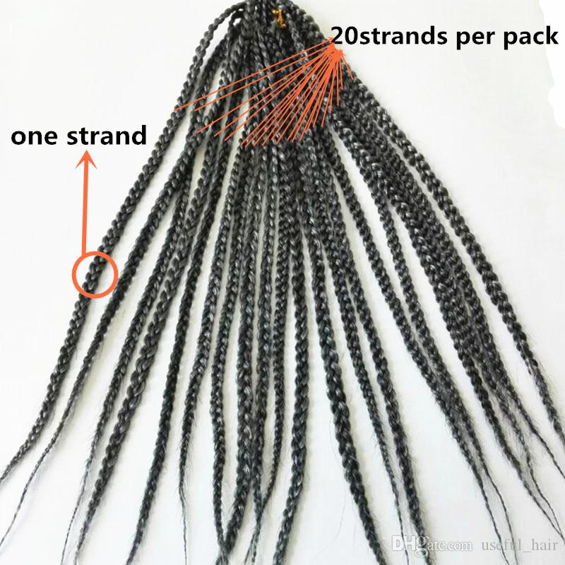 """ombre bug Christmas 24"""" 3s box braids synthetic braiding hair crochet braids hair extensions for women twist dreads jumbo jante collection"""