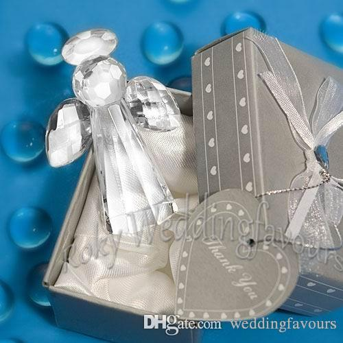 Frete Grátis 12 pcs Escolha Anjo De Cristal Favores Fontes Do Partido de Casamento Brindes Presentes de Aniversário Presentes de Aniversário Do Chuveiro de Bebê Idéias