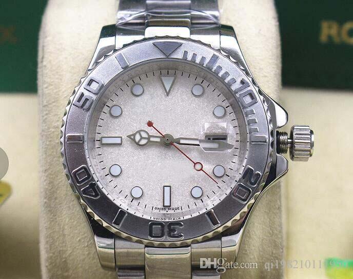 Fabriks grossistförsäljare Lyxklocka Märke Mens Steel Platinum 16622 Ruby Mor of Pearl Yr