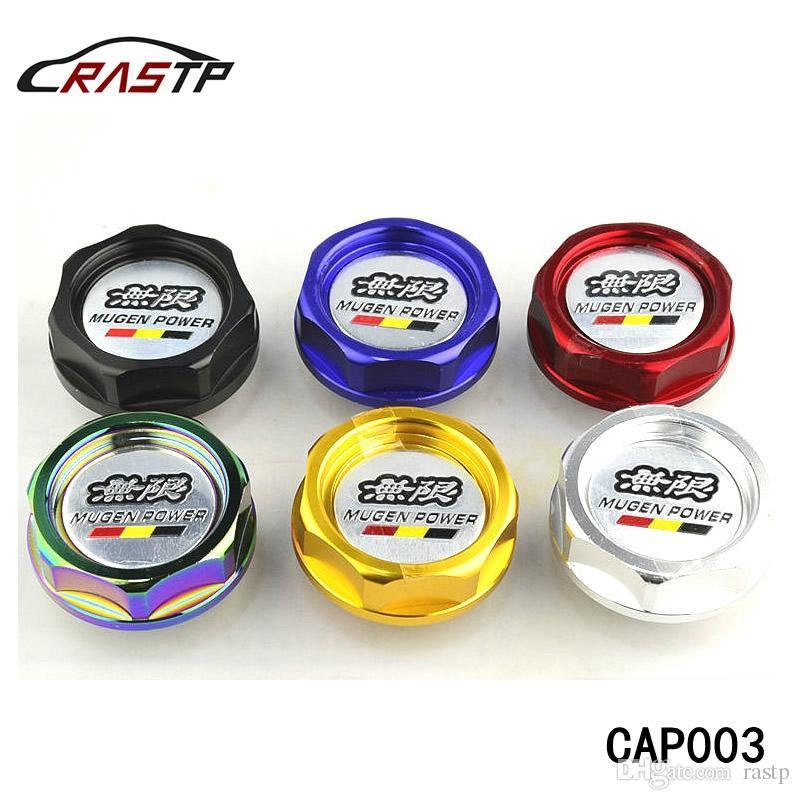 RASTP - شحن مجاني موغن الطاقة النفط حشو كاب سباق محرك الوقود غطاء خزان لهوندا أكورا أسود أحمر الذهب RA-CAP003