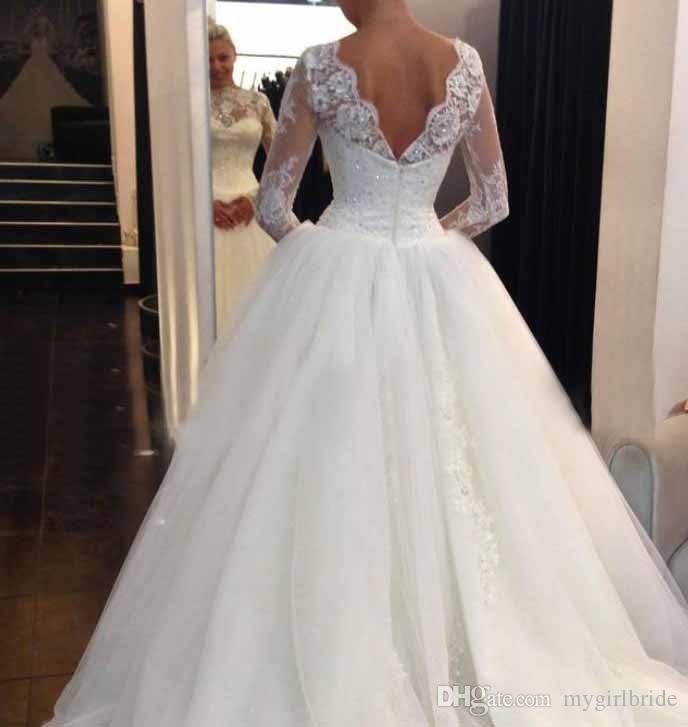 Off Shoulder New Lace Wedding Dresses Vintage Bridal Gowns Latest ...