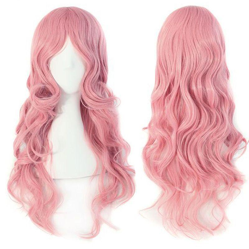 Nuove ragazze di moda ondulata lunga pad sintetico di alta qualità Cosplay Anime parrucche peluca femminile peruca per Halloween