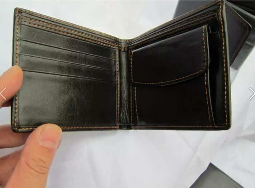 Bolsas 2021 Boss calientes Carteras Cartera de cuero Hombres, titulares de bolsillo de bolsillo Monedas con vendas Carteras + Caja Iwckc